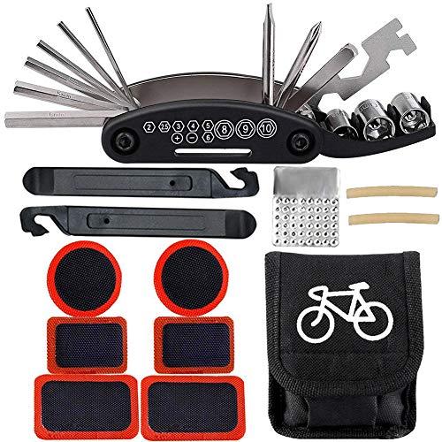 BESTZY Kit de Herramientas para Bicicletas 16 in 1 Multifunctional Bike...