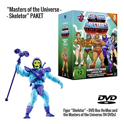 He-Man and the Masters of the Universe (Komplette Serie auf 14 DVDs) + Skeletor Actionfigur (14 cm)