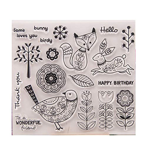 GIMITSUI Store Silicone Clear Stamp (Fox & Rabbit & Bird)