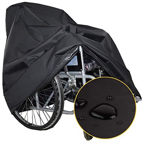 Funda protectora para silla de ruedas 95x72x90cm, gris Funda protectora para silla de ruedas Old Scooter Funda protectora para protección solar a prueba de lluvia Fundas para muebles Oxford, persona