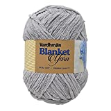Vardhman Blanket Yarn Supersoft Knitting Wool, Grey Colour Ball (200 Grams). Suitable for Art&Craft, Babywear, Baby Blankets, Ponchos mufflers, caps, Thick mota Thread…;
