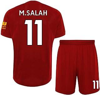 LDFN, LDFN Uniforme de Futbol Niños Camiseta De Fútbol Conjunto Masculino, 11# Mohamed Salah Jersey, Transpirable Deportes Manga Corta, Tamaño Estándar (Color : Red, Size : Child-20)