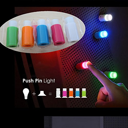 Innovey 5 stuks creatieve kleurrijke mini-sucker lamp nachtlampje led koelkast raam decoratie