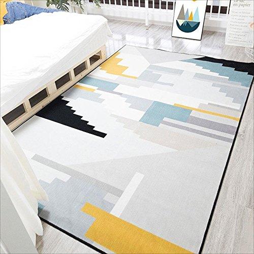 Tappeto Tappeti geometrici minimalisti nordici, tappeti rettangolari chiari, cuscini del sofà del salone Cuscini del tavolino da salotto, tappeti del letto della camera da letto della casa, 140 * 200c