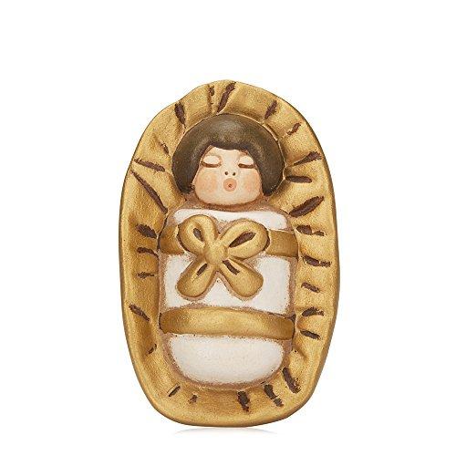 THUN® - Gesù Bambino nella Mangiatoia - Versione Bianca - Statuine Presepe Classico - Ceramica - I...