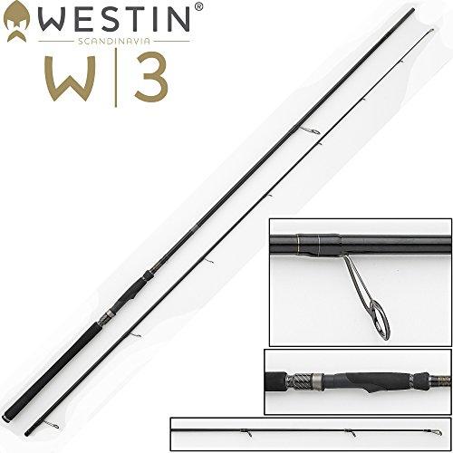 Westin W3Power TEEZ 250cm ML 7–28G, canna da pesca su Zander, luccio e Persico, canna da pesca per stationaerrolle, canna da pesca per la pesca a spinning con esche in gomma