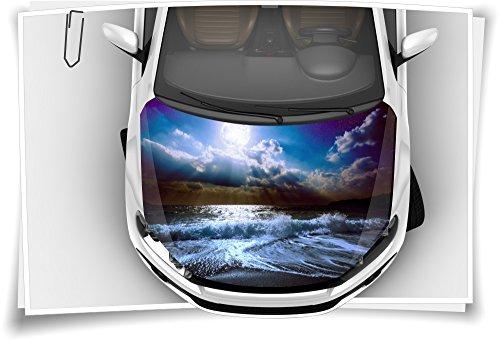 Meer Wellen Strand Motorhaube Auto-Aufkleber Steinschlag-Schutz-Folie Airbrush Tuning Car-Wrapping Luftkanalfolie Digitaldruck
