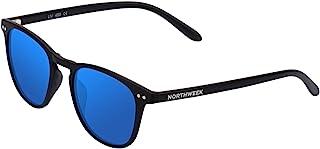 7a11cc4a7d Northweek Wall Jibe, Gafas de sol Unisex, Multicolor (Matte Black/Blue  Polarized