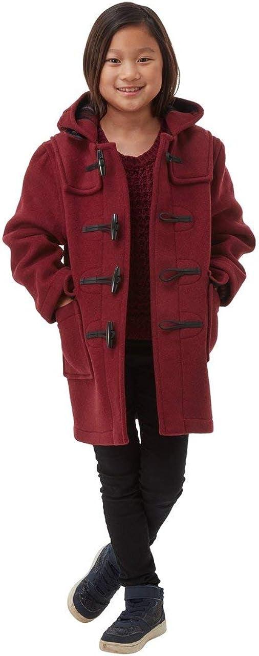 Kids Classic Duffle Coat (Toggle Coat) (4-6, Burgandy)