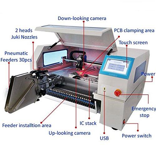 Gowe Advanced SMT Chip Mounter Pneumatische Feeder Vision System Auto kalibrieren Mark2SMT Pick...