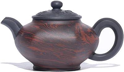 PengCheng Pang 宜興急須有名な手作りの紫色の粘土のティーポット饗宴ツイスト泥プロセス (Color : Purple mud, Size : ワンサイズ)