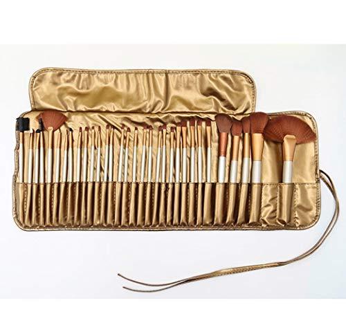 Ensemble De Pinceaux De Maquillage Professionnel Outils De Maquillage Combinaison De Pinceaux À Paupières Maquillage, 32 Brown Pack G
