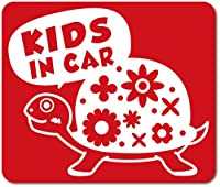 imoninn KIDS in car ステッカー 【マグネットタイプ】 No.53 カメさん (赤色)