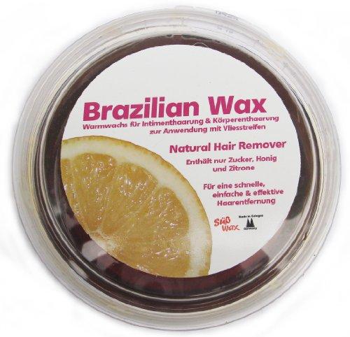 400g Süß Wax Brazilian Wax zur Enthaarung mit Vlies 100% Natürlich. Warmwachs aus Zucker, Honig und Zitrone. Brazilianische Sugaring Zuckerpaste + 20 Vliesstreifen
