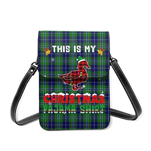 This Is My Christmas Pyjama-Shirt, leicht, Crossbody-Tasche für Damen, geräumige Taschen