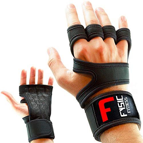 Fitness Handschuhe Trainingshandschuhe Atmungsaktiv Mit Handgelenkstütze und Anti Rutsch Gewichtheben, Krafttraining, Gym, Crossfit,...