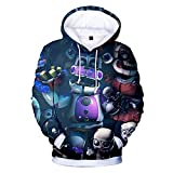 Freddy's Sister Location Hoodies Anime Funtime Foxy 3D Pullover Sweatshirt Long Sleeve for Kids Adult