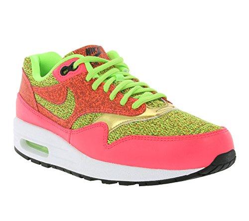 Nike  Air Max 1 Se,  Damen Durchgängies Plateau Sandalen mit Keilabsatz , grün - Green Pink - Größe: 36 EU