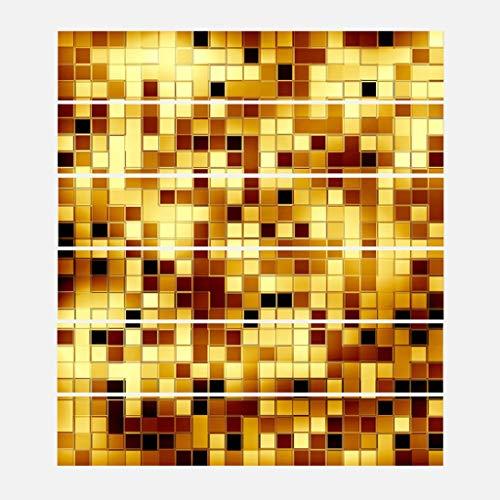 RUNWEI Escalera Vinilo Decorativo Impermeable Pasos de la Escalera de decoración (100 cm * 18 cm * 6pcs) (Color : Silver)