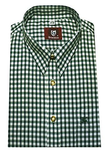 Orbis Textil Trachtenhemd grün-weiß L