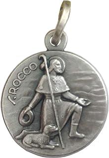 Medaglietta San Rocco In Argento Massiccio 925-925 Sterling Silver Saint Rock Medal