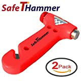 Cinturón de Seguridad Cortador Ventana Interruptor Coche Martillo De Seguridad (Pack de 2) a salvar vidas cristal Breaker coche emergencia herramienta