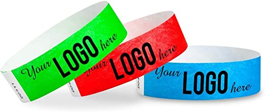 Custom 3/4 inch Tyvek Wristbands for Events - Image or Logo Personalized (Paper-Like) Bracelets