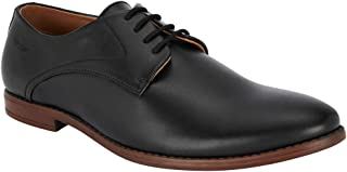 Park Avenue Solid Black Coloured Synthetic Footwear