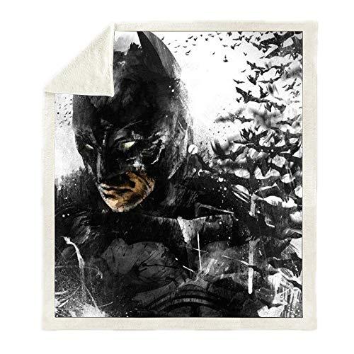 LIFUQING Batman 3D Stampato Wonder Woman Sherpa Coperta Divano Divano Escursionismo Picnic Torna A Scuola Trapunta Copriletto Gettando Coperta di Lana-150x200cm