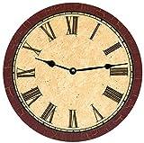 Reloj de pared marrón crujido - Maroon Reloj de pared decor