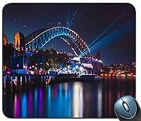 シドニーハーバーブリッジ夜反射都市景観シドニー14889マウスパッドマットマウスパッドホットギフト