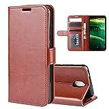Étui de téléphone Flip pour Nokia C1 R64 Texture Single Horizontal Flip Cas de Protection avec...