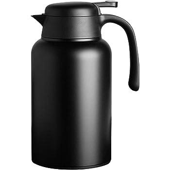Luvan 18/10 Jarra Térmica Termo, Anti-Goteo, Anti-Quemaduras, La cafetera de Aislamiento, café, (Negro, 2.0L): Amazon.es: Hogar