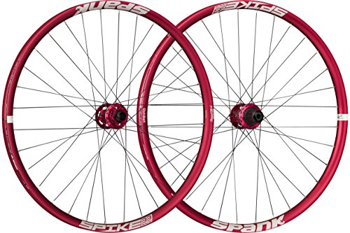 Spank Spike Race33 DH 27,5 Zoll whlset 20 mm, 12/135 mm Adapter BB Laufräder, red, 650 B