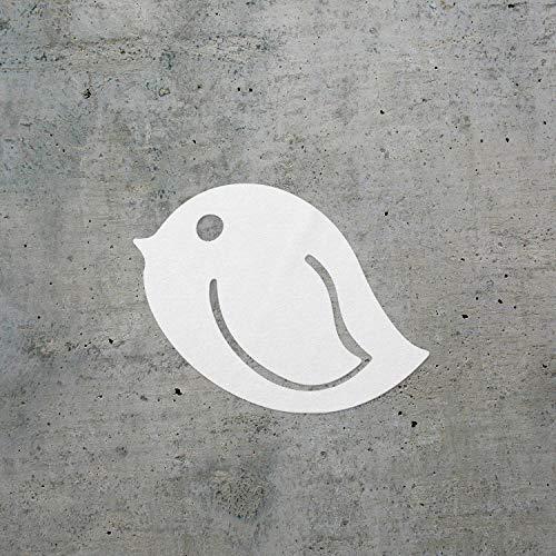 USC DECALS Bookmark Birdie (White) (Set of 2) Premium Waterproof Vinyl Decal Stickers for Laptop Phone Accessory Helmet Car Window Bumper Mug Tuber Cup Door Wall Decoration