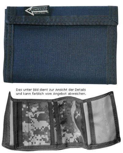 Geldbeutel Geldbörse Klettverschluss Nylon Wallet Army Blau Navy by CN Outdoor
