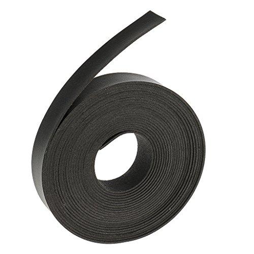Gazechimp 5 Meter DIY pu Lederband Lederriemen Streifen 2cm Wide - Schwarz