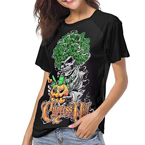 Cypress Hill Classics Damen- und Damenmode-Baseballhemd Kurzarm O-Ausschnitt Raglan T-Shirts Gro?