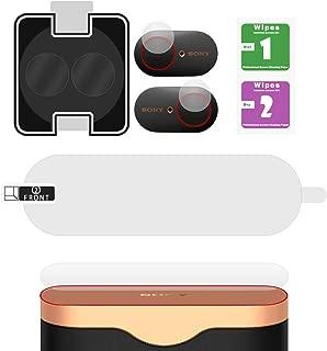 Geekria フィルム SONY WF-1000XM3 イヤーホンのタッチボタン 用 ガラスフィルム 充電ケース上面 用 TPUフィルム 高硬度 高感度 指紋防止 気泡防止 防塵 耐衝撃 自動吸着 簡単貼付