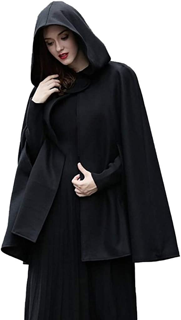 Women Trench Coat ZSBAYU Gothic Hooded Cape All stores are sold Open C Front Max 52% OFF Poncho