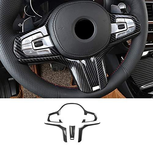Accesorios para interiores del coche Fibra de carbono ABS para BMW 5 Series G30 X5 G05 X4 G02 X3 G01 Rueda de dirección de la cubierta de la cubierta del marco M M Etiqueta engomada del deporte