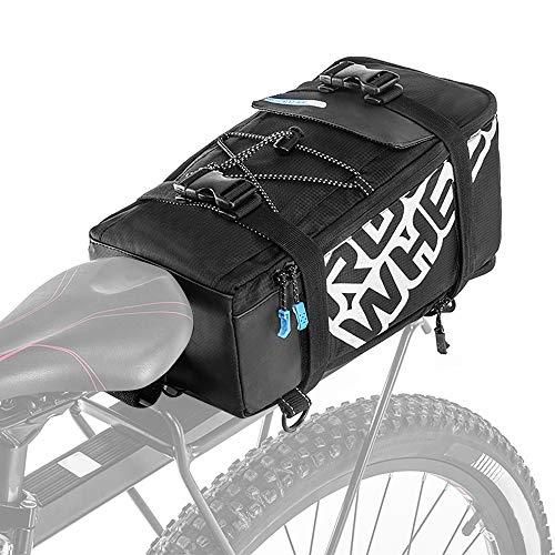 Flytise Bolsa de maletero para bicicletaCiclismo multifuncional Bicicleta Bicicleta Asiento trasero Maletero...