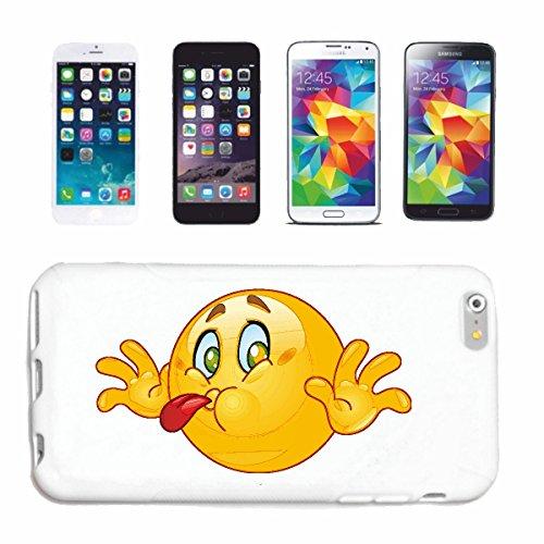 Helene Handyhülle kompatibel für Samsung Galaxy S7 Edge FRECHER Smiley STRECKT Seine Zunge Raus Smileys Smilies Android iPhone Emoticons IOS GRINSE Gesicht E