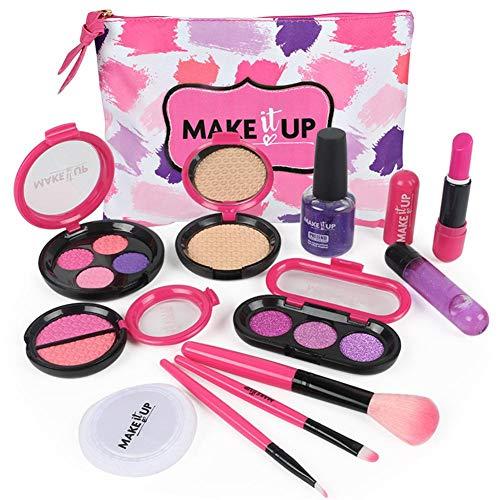 Knowled 9 STÜCKE Kinderschminke Set, Echt Waschbar Kosmetik Sicher & Ungiftig Beauty Set, Mädchen...