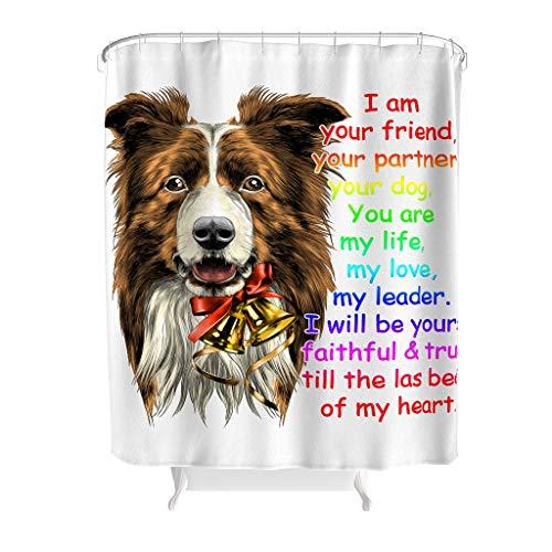 YxueSond I Am Your Friend Dog Rainbow douchegordijn waterdicht stof anti-schimmel badkamer decoratie