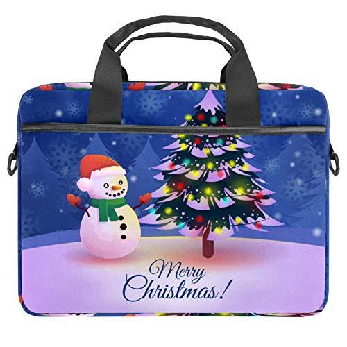 Valigetta per computer portatile, 14,5 cm, pupazzo di neve con motivo di fuochi d'artificio, colore: viola Multicolore 3 11*14.5in