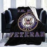 Us Navy Veteran Throw Blanket,Soft Warm Blanket Super Soft Micro-Velvet Blanket Super Soft Hypoallergenic Plush Bed Sofa Living Room