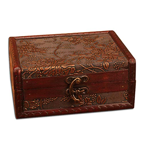 GFCGFGDRG Old Style Jewelry Box Storing Treasure Pearl Necklace Earrings Earrings Storge Case Decorative Storge Case Decorative Small Chest Holder
