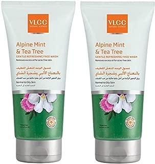 VLCC Alpine Mint & Tea Tree Gentle Refreshing Face Wash 2 X 2 X 150 ml, Pack of 1