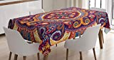 ABAKUHAUS Cachemir Mantele, Alfombra de Flores, Fácil de Limpiar Colores Firmes y Durables Lavable Personalizado, 140 x 200 cm, Multicolor
